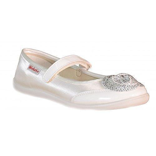 Naturino - Naturino Ballerine Bambina Bianche Pelle Tela Strappi 8042 - Bianco, 32