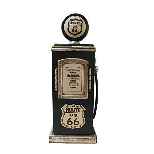 """Retro Vintage Schrank CD-Regal""""Route 66"""" Zapfsäule - dunkelgrün"""