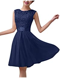 ZANZEA Damen Spitze Ärmellos Party Club Kurz Slim Abend Brautkleid Cocktail Ballkleid