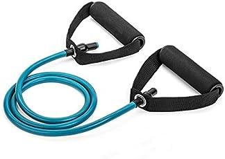 Resistance Tubes for Pull String Body Building Training,Bicep Curl, Shoulder Raise, Shoulder Press, Squat with Foam Handles