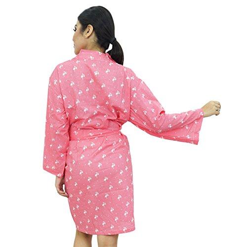 Obtenir Demoiselle Honneur Prêt Femmes Robe Coton Robes Salmon et blanc