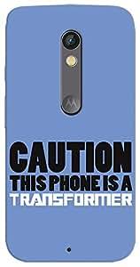 Kasemantra Caution Transformer Case For Motorola Moto X Style