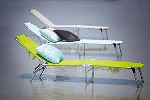 Fiam Jan Kurtz Amigo 471051 Chaise longue pliante 3 pieds / Transat / Bain de soleil - Taupe