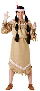 Hilka Cesar B847-004 Sqaw - Disfraz de india para mujer, talla 38-40