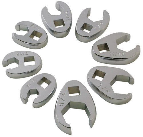 Sunex 9708 8 Piece 3/8-Inch Drive Fractional Crowfoot Flare Nut Wrench Set by Sunex -