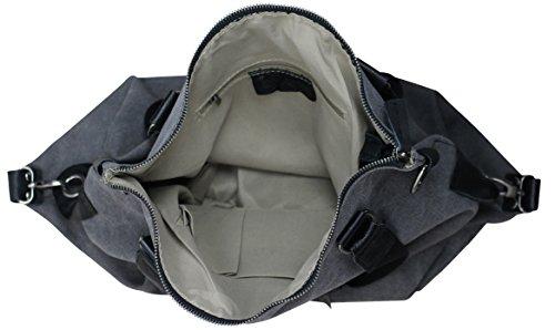 PiriModa, Borsa a spalla donna 40x35x15cm(B+H+T) grigio scuro