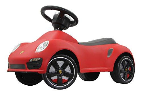 Jamara 460208 - Rutscher Porsche 911 rot - Kippschutz, Flüsterreifen, echte Scheinwerferattrappen, Hupe am griffigen Lenkrad, offiziell lizenziert mit originalgetreuer Optik, wertige Verarbeitung