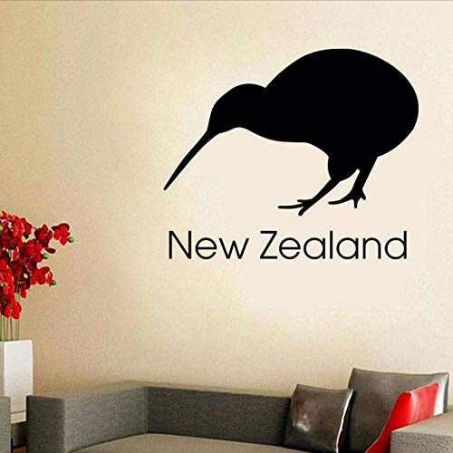 Gwgdjk Neuseeland Kiwi Wandaufkleber Büro Wanddekor Vinyl Abnehmbare Selbstklebende Vogel Wandbild Diy Dekoration 71X59 Cm
