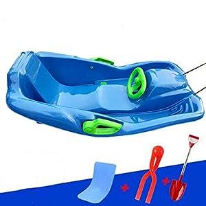 LJW Carshape Schlitten Rodeln PP-Kunststoff Gefrierschutz Xiao Slip Schlittschuhlaufen Kind Erwachsene 92 * 55 * 30cm