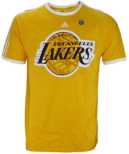adidas Los Angeles Lakers NBA - Camiseta de Manga Corta para Hombre, Color Dorado - Dorado - Small