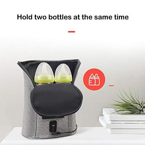 awhao Auto Baby Flaschenwärmer, Isolierte Muttermilchkühler Flaschenwärmer Tasche, Outdoor Tragbare Konstante Temperatur Mehrzweck Milch Heizung Aufbewahrungstasche, 7,87 3,15 9,06in clever