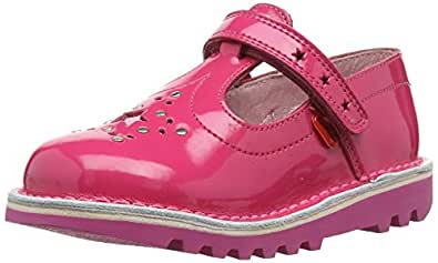 Kickers Girls Kick T Star Mary Jane Flats 113002 Dark Pink 5 UK Child, 22 EU