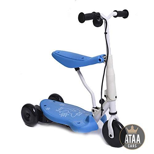 Triciclo Patinete eléctrico para niños Chick batería 6v - Azul