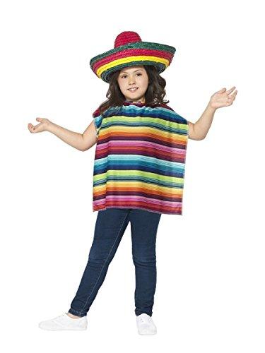 Smiffys Kinder Kostüm Mexikaner Poncho Sombrero Karneval ()