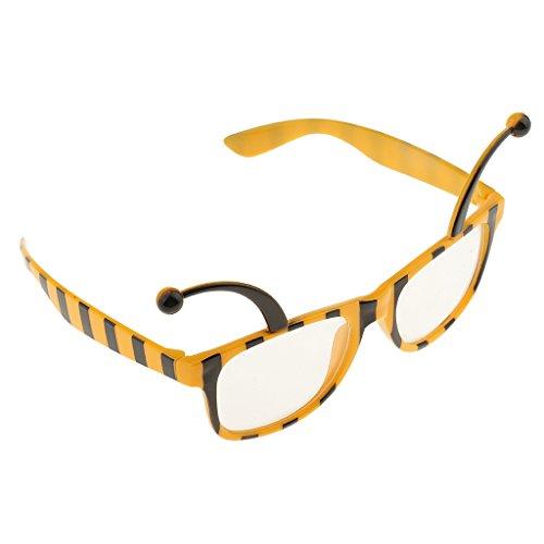 MagiDeal Lustige Bienen Dekobrille Lustige Partybrille Sonnenbrille für Feier Party Geburtstag Weihnachten Neujahr Party