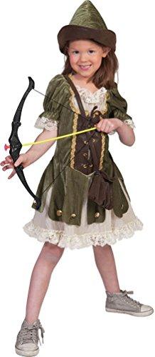 ,Karneval Klamotten' Robin Hood Kostüm für Mädchen Karneval Räuber Mädchenkostüm Größe (Mädchen Robin Kostüme Für)