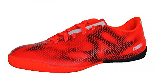 F10 IN OFL Adidas-Scarpe da calcetto, da uomo - BLACK1/CHALK2/LGTSCA