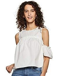 Amazon Brand - Inkast Denim Co. Women's Plain Regular fit Shirt