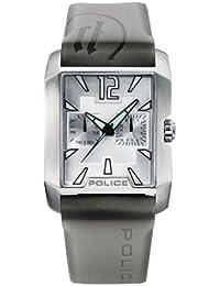 Police PX11663B - Reloj analógico de cuarzo unisex, correa de acero inoxidable color plateado