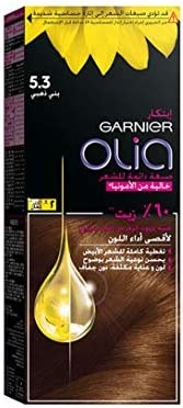 Garnier Olia, No Ammonia Permanent Hair Color With 60% Oils, 5.3 Golden Brown
