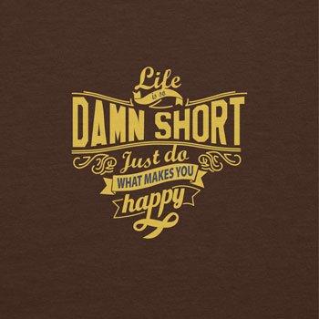 TEXLAB - Life is so damn short - Herren T-Shirt Braun