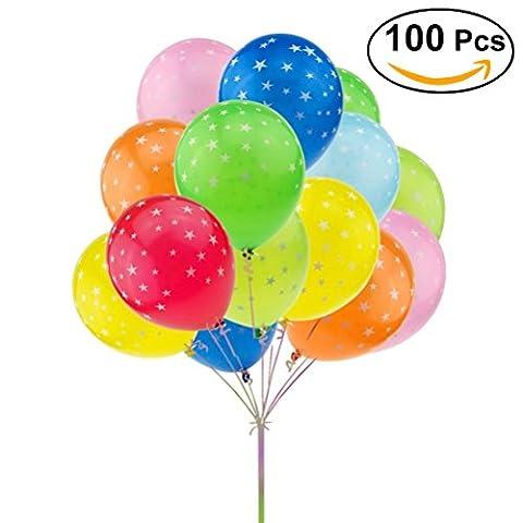 TOYMYTOY Luftballons / Latex Ballons Assorted Stern Druck Für Hochzeit Geburtstag Party 100 Stück