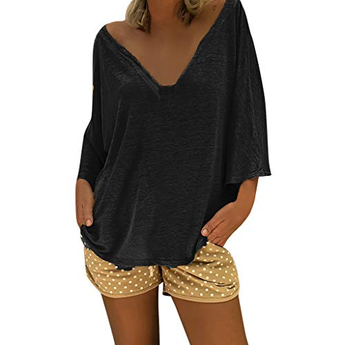 Aiserkly Damen V-Ausschnitt Kaftan Boho Strand Abdeckung Plus Size Damen Vintage Hippie Baggy