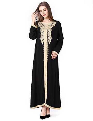 BAYA Muslim Abaya Dubai Kleider für Frauen islamischen Kleid Islamische Kleidung muslimische Kaftan Rayon Gewand Jalabiya 1629