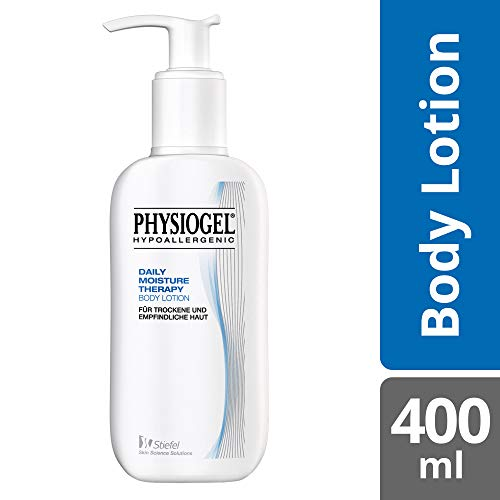 PHYSIOGEL Daily Moisture Therapy Body Lotion, hypoallergen - Lindert trockene und gespannte Haut, 400 ml