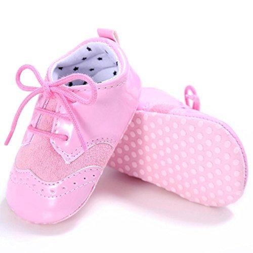 Igemy 1Paar Baby Säugling scherzt Mädchen Jungen weiche alleinige Krippe Kleinkind Neugeborene Schuhe Pink