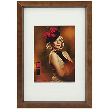 HR-52 Holz Bilderrahmen 10x15 bis 40x50 cm Naturfarben 6 Größen Foto Rahmen: Farbe: Eiche Dunkel | Format: 40x50