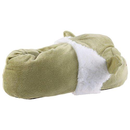 SAMs Tier Plüsch Hausschuhe Star Wars Meister Yoda Qualität Slipper Puschen Schlappen Pantoffel 31-47, TH-Yoda Grün