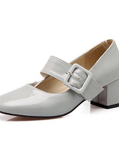 WSS 2016 talon chunky chaussures brevet talons / talons bout rond partie des femmes&soirée / robe / casual noir / rouge / gris red-us10.5 / eu42 / uk8.5 / cn43