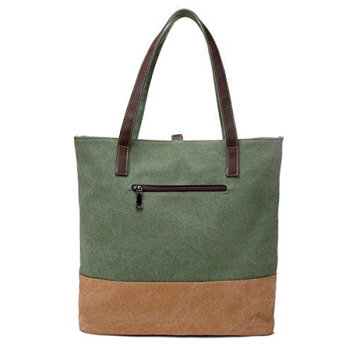 Segeltuchhefteschulterbeutel Einfache Beiläufige Handtaschenschulterbeutel Retro Einfache Spielraumbeutel Green