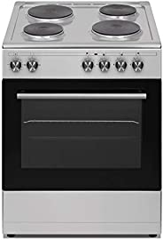Veneto 60 X 60 cm 4 Electric Hot plates, Free standing Electric cooker, Stainless Steel - L660SX.VN, 1 Year Wa