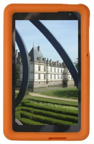 Bobj Silikon-Hulle Heavy Duty Tasche fur Dell Venue 8 Pro (nur Pro-Modelle 5830 und 3845) Windows 8 und Dell Venue 8 Android Modell 3840 – BobjGear Tablette Schutzhulle (Orange)