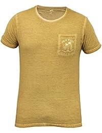 T-shirt Pour Hommes Brave Soul Look Vieilli Manche Courte Palm Beach Los Angeles Neuf