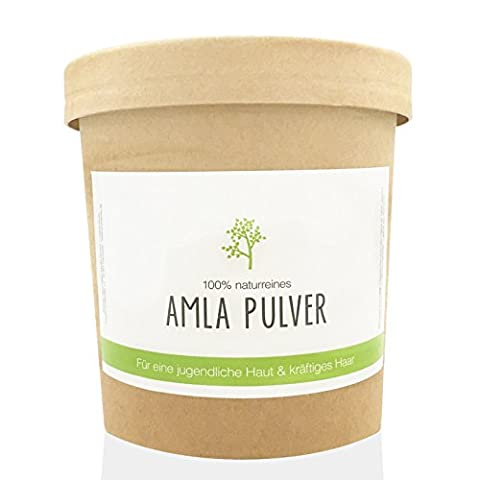 200 gr Amla Pulver | 100% natürlich | Für Haut und Haar | Gesichtsmaske Peeling Haarwäsche & Conditioner | Reines Amlapulver Vegan | Amalaki Naturkosmetik | Ohne Konservierungsstoffe | Puremetics | Pure Amla Hair- & Skincare