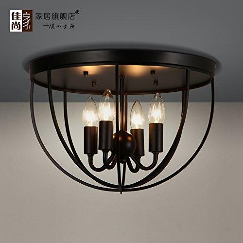 LINA-Ciondolo Vintage retrò tonalità chiare Contemporanea Ciondolo plafoniera luce metallo soffitto illuminazione lampada Arte del ferro tondo lampada da soffitto