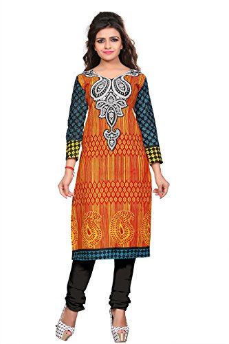 Nakoda Women's Cotton Self Print Unstitched Kurti  available at amazon for Rs.199