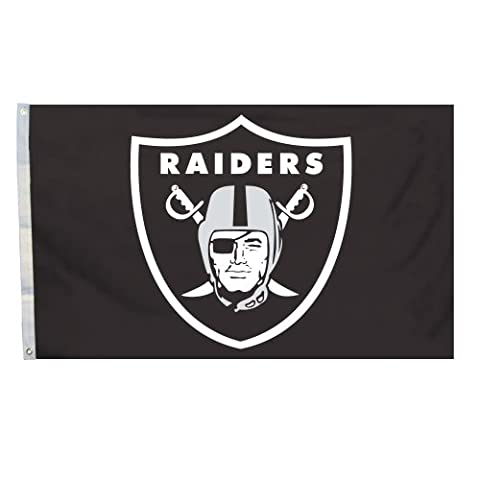 NFL Oakland Raiders Logo Only 3-by-5 Feet Flag with Grommetts