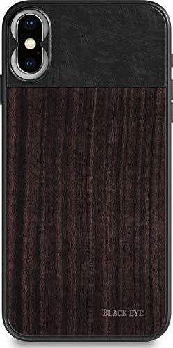 BLACK EYE Photo Case für Apple iPhone X (Rückseite aus hochwertigem Sandelholz, spezielles Befestigungssystem für alle Objektive, Gummierte Ecken, Handschlaufe inklusive) - IP003