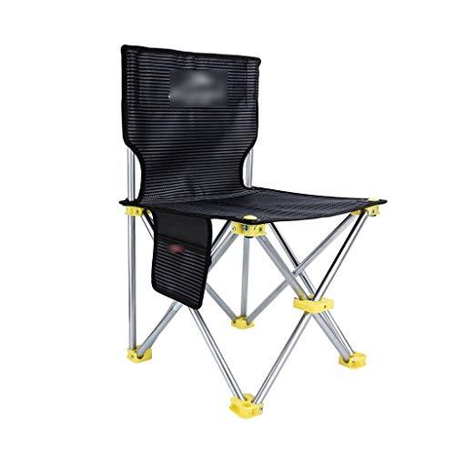 gzw001 pesca sedia da campeggio all'aperto pesca pieghevole portatile sedia leggera pesca pesca escursionismo picnic giardinaggio beach fishing chair (color : black, size : metal)
