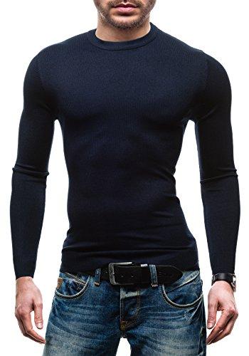 BRUNO LEONI - Pull - Tricot - Sweatshirt - Sweater Top 009 Bleu foncé