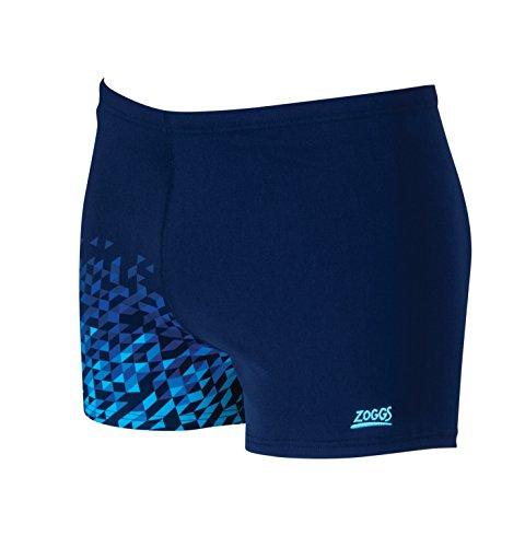 Zoggs Herren Badeshorts Blaze Hip Racer Anzug Blau - Navy/Multi-Colour
