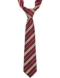 Landisun - Corbata - para niño Rojo Red and Yellow Stripe Small