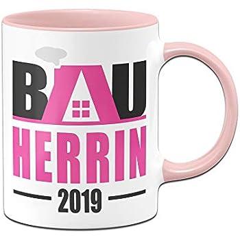 Tasse Bauherrin Kaffeebecher Geschenkidee Geschenk zum Einzug Richtfest Hausbau