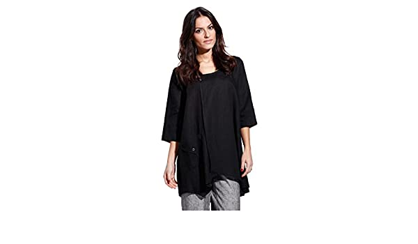 39723b8b585 Eva Tralala - Tunic SAVARY - Woman - T1 - Black  Amazon.co.uk  Clothing