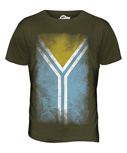 CandyMix Tuwa Verblichen Flagge Herren T Shirt Khaki Grün