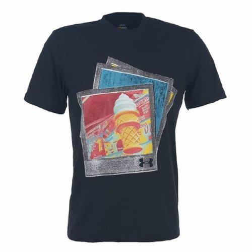 Under Armour T-Shirt da Uomo morbida da servizio (Media, nera) (Under Media Armour)